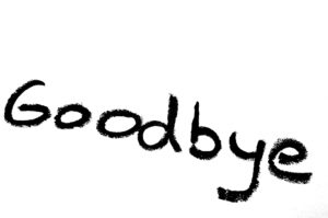 the word good-bye written out