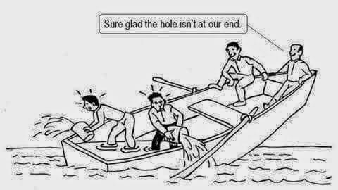 sinking ship cartoon