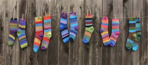 colorful socks on the line