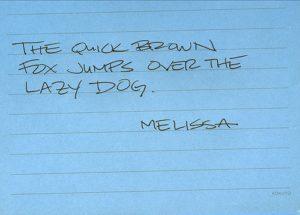 note written in capital letters