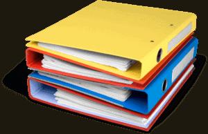 pile of binders